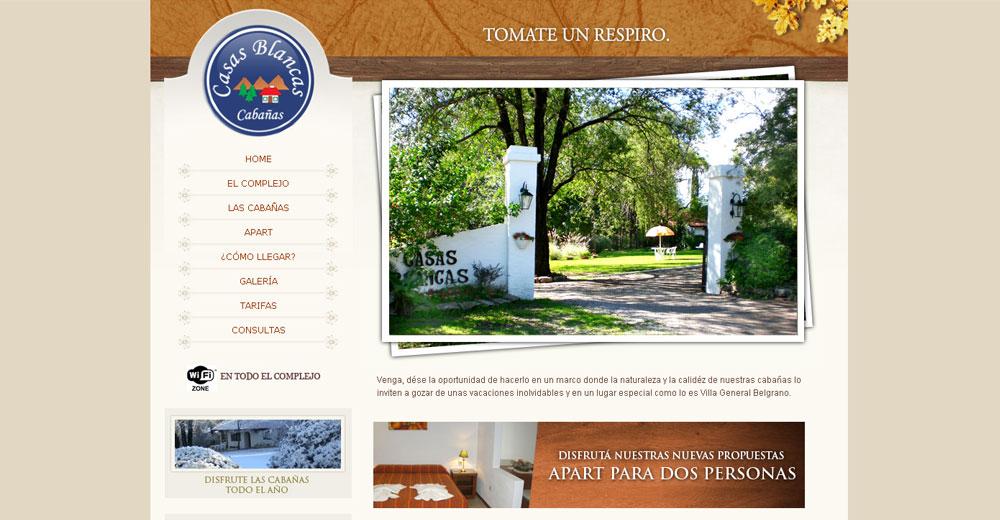 CASAS BLANCAS – Cabañas Villa General Belgrano